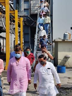 संत सिंगाजी पावर परियोजना का ऊर्जा मंत्री प्रद्युम्न सिंह तोमर ने  किया औचक निरीक्षण