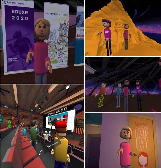 AltSpaceVR-virtuaalimaailman hahmoja