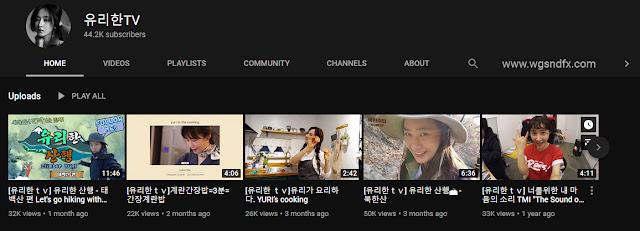 snsd yuri youtube channel