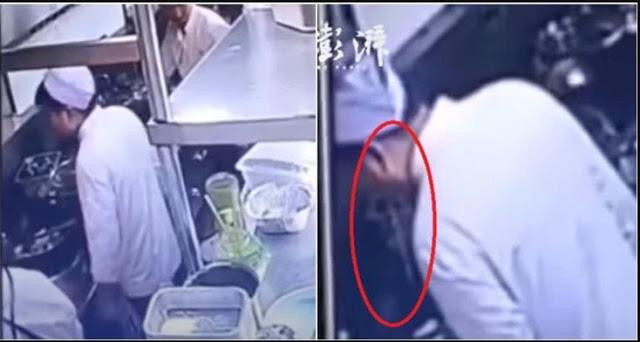 Astaga! Koki Ini Ludahi Makanan Pelanggan Karena Kesal pada Pembeli, Terekam CCTV