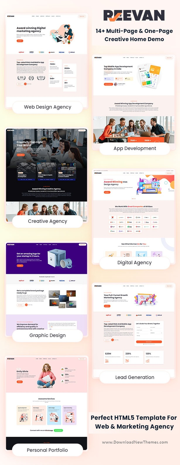 Web & Marketing Agency Bootstrap Template