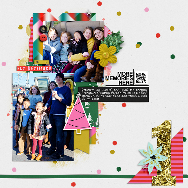 Digital Scrapbook Page - DYD Day 1
