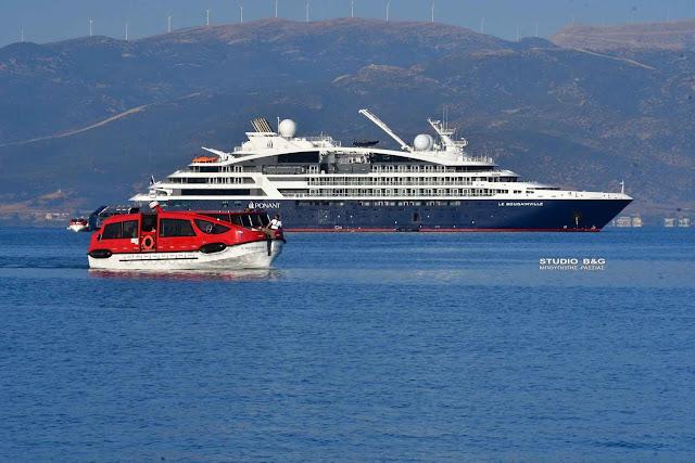 """Στο Ναύπλιο το κρουαζιεροπλοιο """"Le Bougainville"""""""