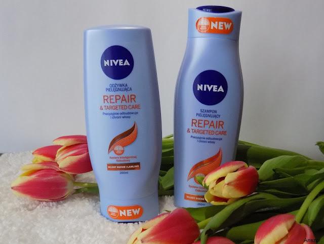 Nivea Repair & Targeted Care - szampon i odżywka regenerujące do włosów suchych i łamliwych
