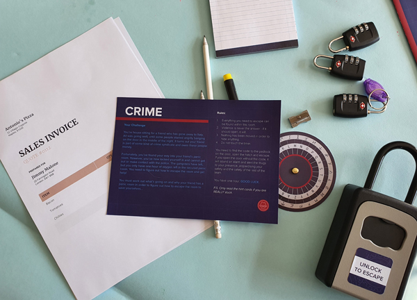 Contents of the Crime (easy level) in Epic Escapes Games