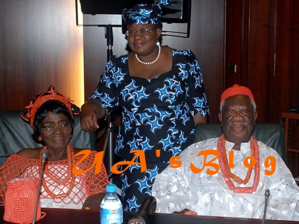 President Buhari salutes Okonjo-Iweala's father as he turns 90