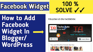 How to add Facebook Page plugin in Blogger & Wordpress