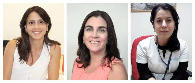 Paula Muñoz, Lorena Tapia y Stephania Passalacqua
