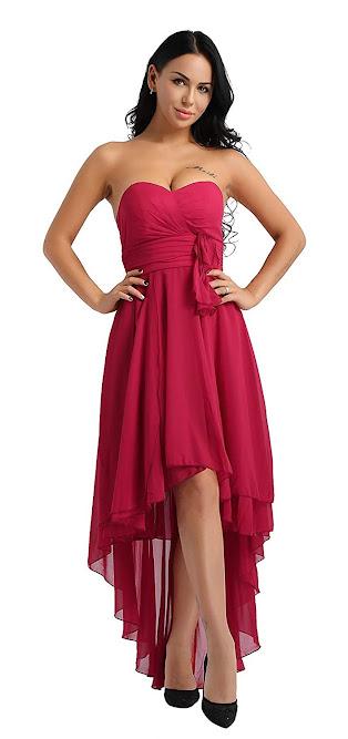 Beautiful Red Chiffon Bridesmaid Dresses
