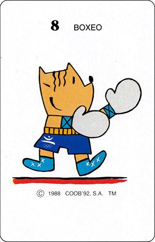 Baraja Cobi Heraclio Fournier Carta 8 Boxeo