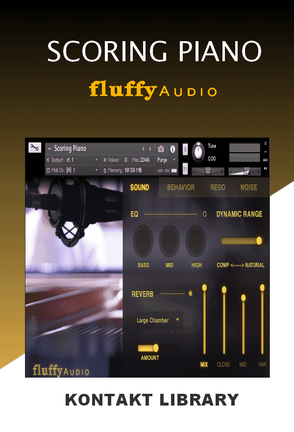 FluffyAudio Scoring Piano KONTAKT Library