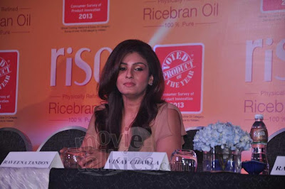 Raveena at the Press Conference For Riso Rice Bran Oil Being Awarded As The Product Of The Year 2013