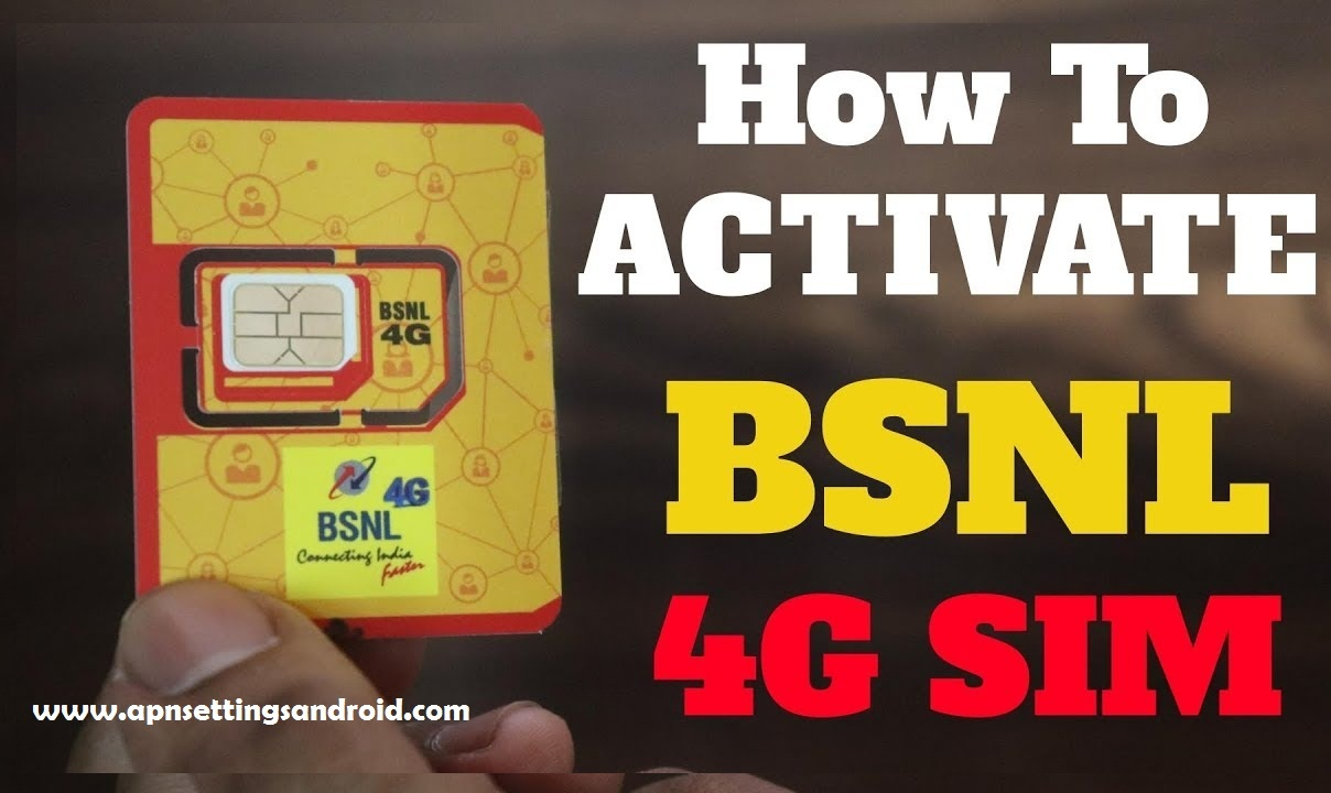 How To Activate New Bsnl 4g Sim Card