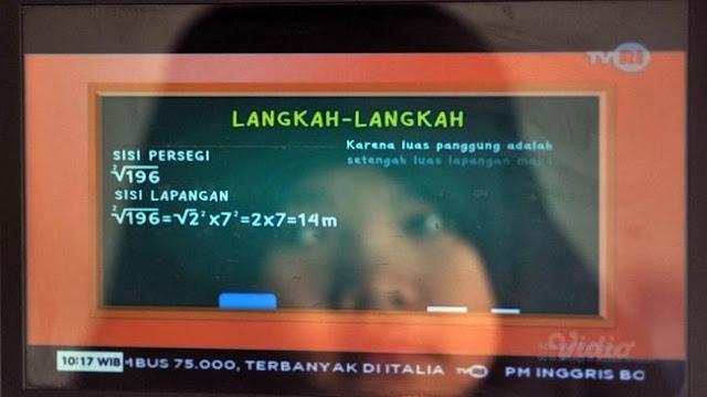 Siswa Sulit Belajar Dari TV: Banyak Tugas dan TVRI 'Renyek'