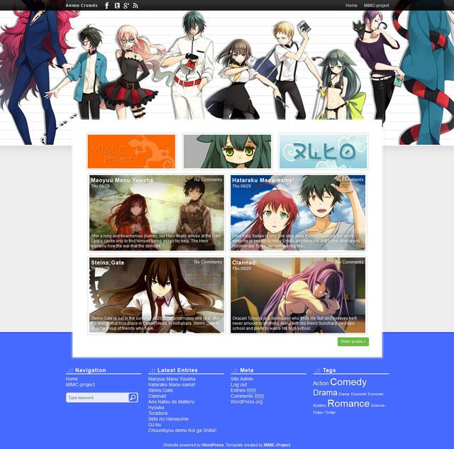 Anime Crowds Wordpress Themes