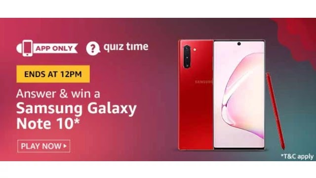 Amazon-Quiz-Answers-For-Today-15th-April-2020-Win-Samsung-galaxy-Note-10