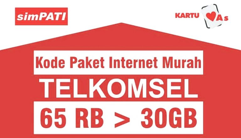 Daftar Kode Paket Internet Murah Telkomsel 30 Gb