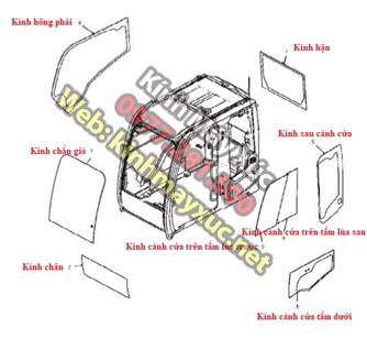 Khung Lắp Kính  Máy Xúc của hãng HITACHI