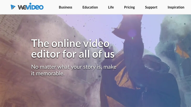 WeVideo is a cloud-based software that lets you collaborate with your team on video projects.