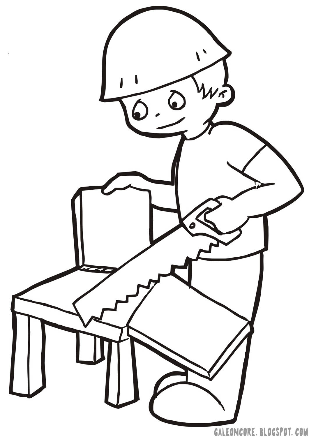 carpenter tools coloring pages - photo#7