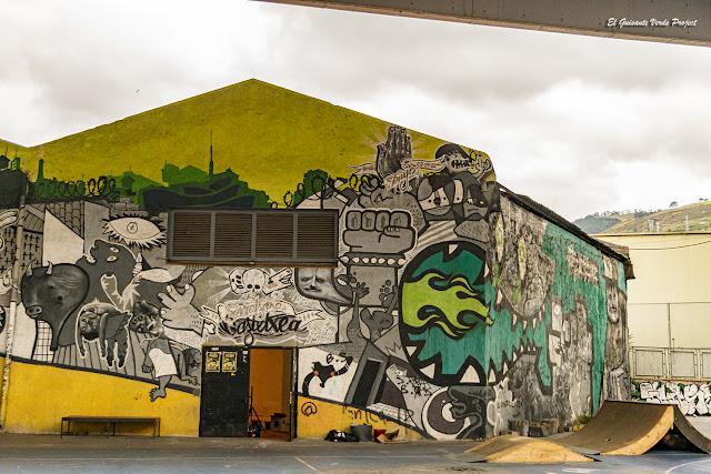 Mural Gaztexe Zorroza A8 - Bilbao, por El Guisante Verde Project