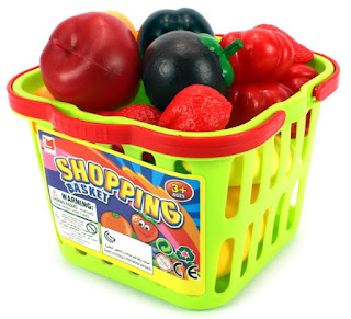 Amazon Fruit & Veggies Shopping Basket Toy Food Playset