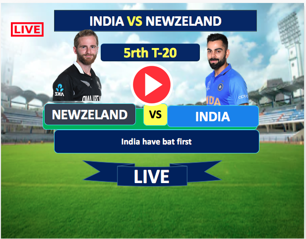 5th T-20  Match :  India vs New Zealand- 2nd Feb, India is batting now