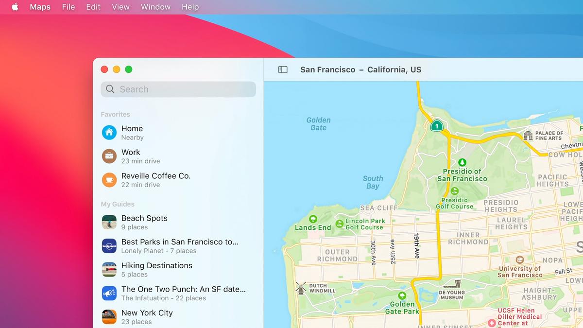 tampilan, apple, big sur, maps