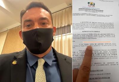 TRIUNFO POTIGUAR RN-Senador Styvenson aciona MPF para ex-prefeita de Triunfo Potiguar que sumiu com emenda parlamentar de 150 mil reais