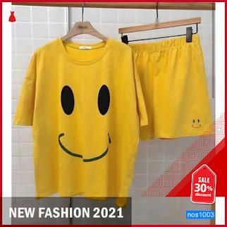 NOS1003 SET WANITA SETELAN HAPPY SET 2IN1 LD 90 P 57 SETELAN SMILE BARU 2021