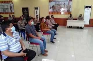 Kapolres Gowa Terima Kunjungan Studi Banding ZI- WBK Polres Maros