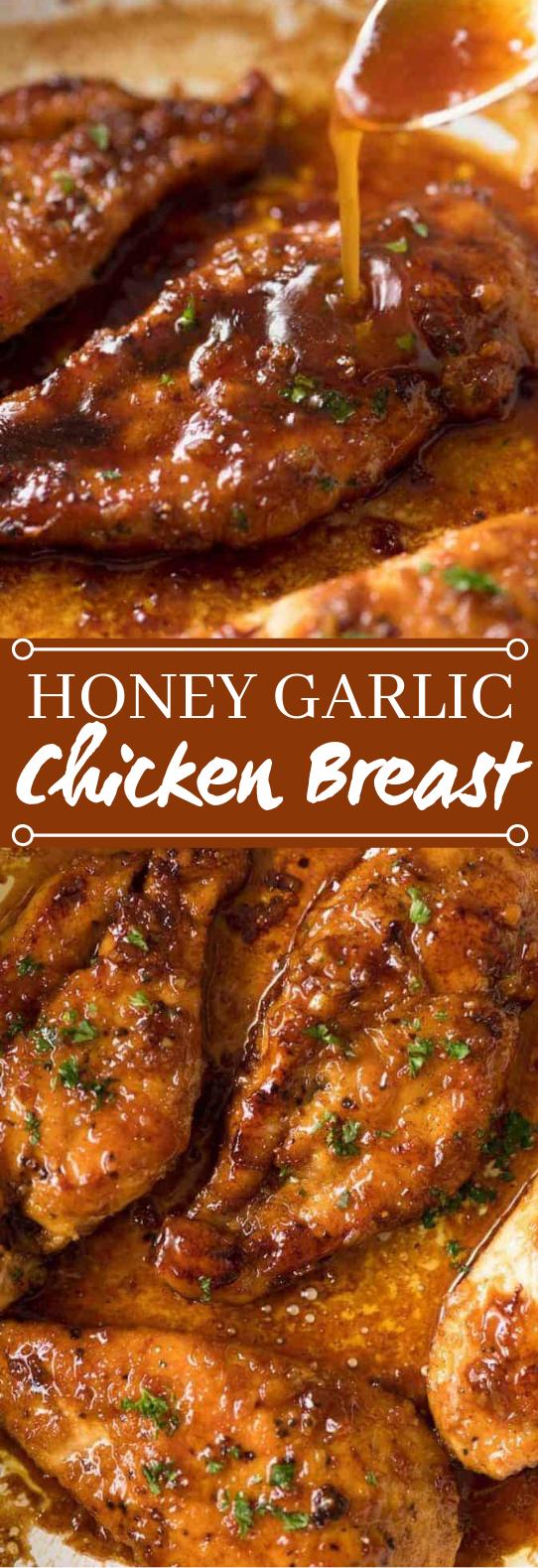 Honey Garlic Chicken Breast #dinner #chicken