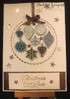 Andrea Sargent, Stampin Up, Brightly Gleaming DSP, Christmas, Heart of Christmas