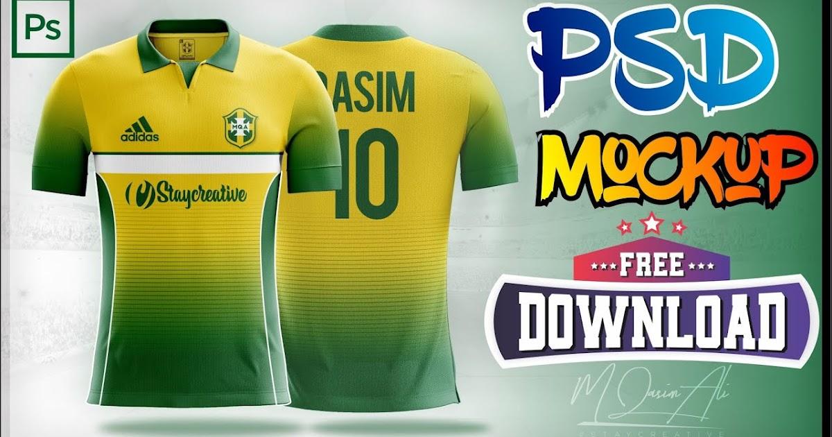 Download Free Adidas Shirt Mockup _ Football Shirt Design Using ...
