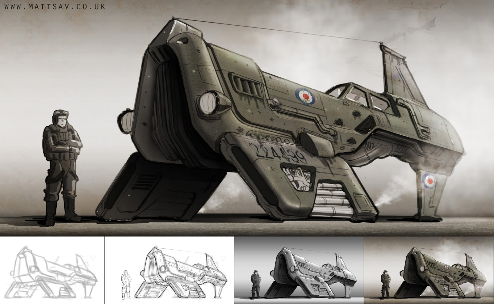 Fighter Plane Concept Art by Matt Savage
