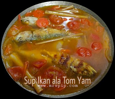Resipi sup ikan ala tom yam