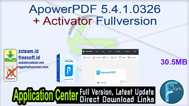 ApowerPDF 5.4.1.0326 + Activator Fullversion