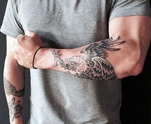 kartal kol dövmeleri erkek eagle forearm tattoos for men