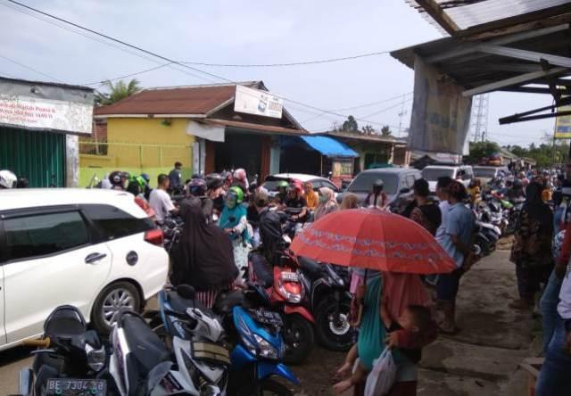 Jalur Pasar Kedondong Pesawaran Jadi Langganan Macet