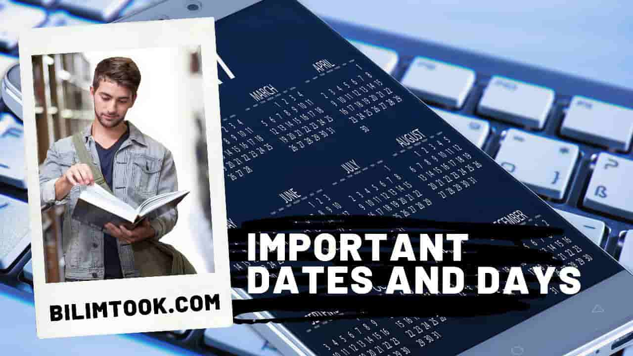 List of Important Days & Dates - PDF