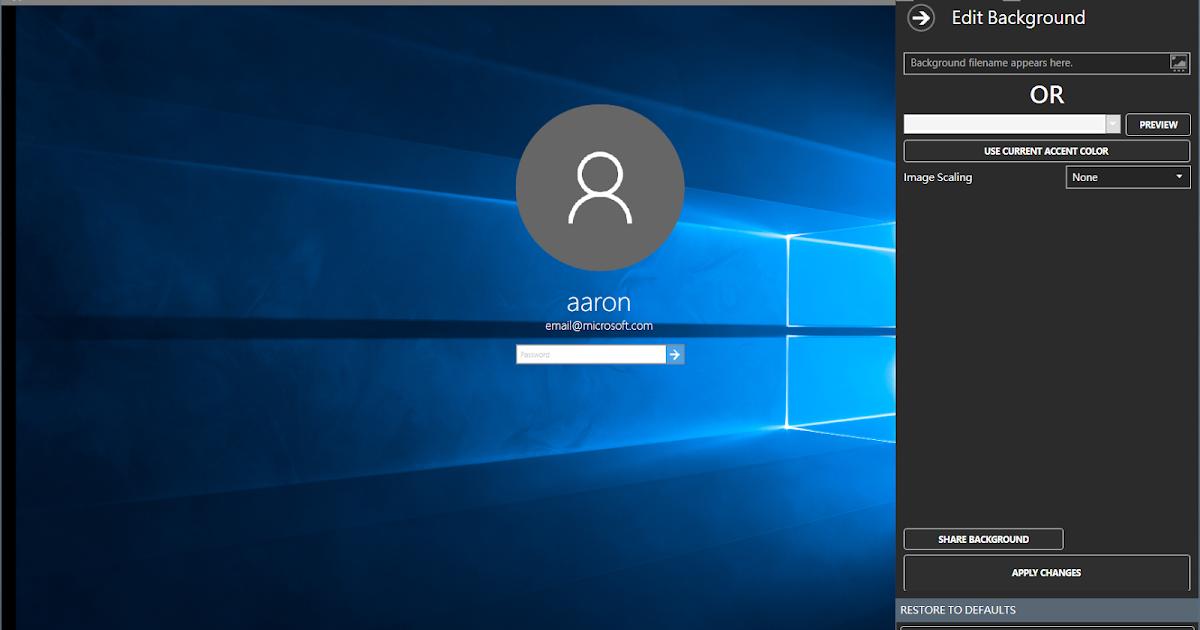 Xbear-野熊氏不是熊: How To Change Your Windows 10 Login Screen Background 登入畫面修改