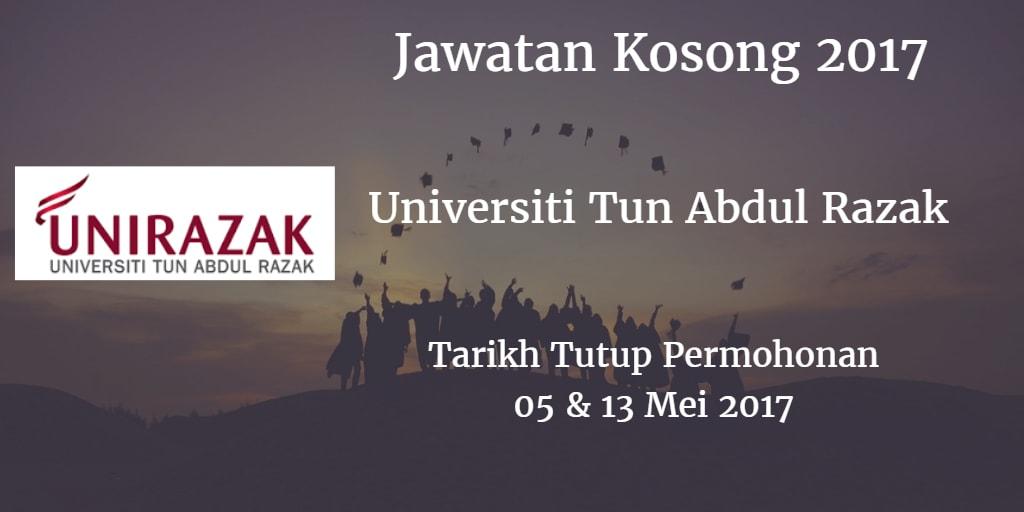 Jawatan Kosong UNIRAZAK 05 & 13 Mei 2017