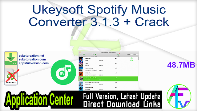 Ukeysoft Spotify Music Converter 3.1.3 + Crack