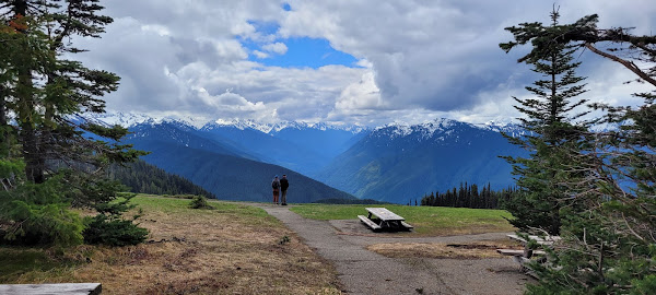 Picnic Area with beautiful view at Hurricane Ridge