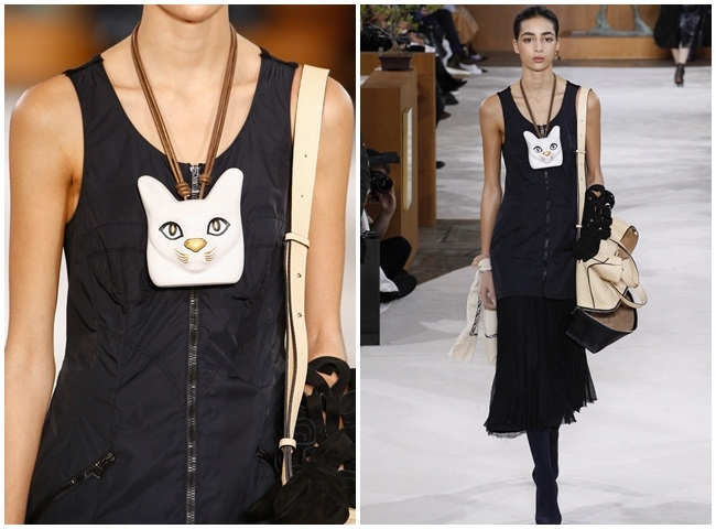 Loewe 2016 AW RTW Cat Head Necklace