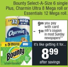 Bounty Select-a-size 6 Single Plus