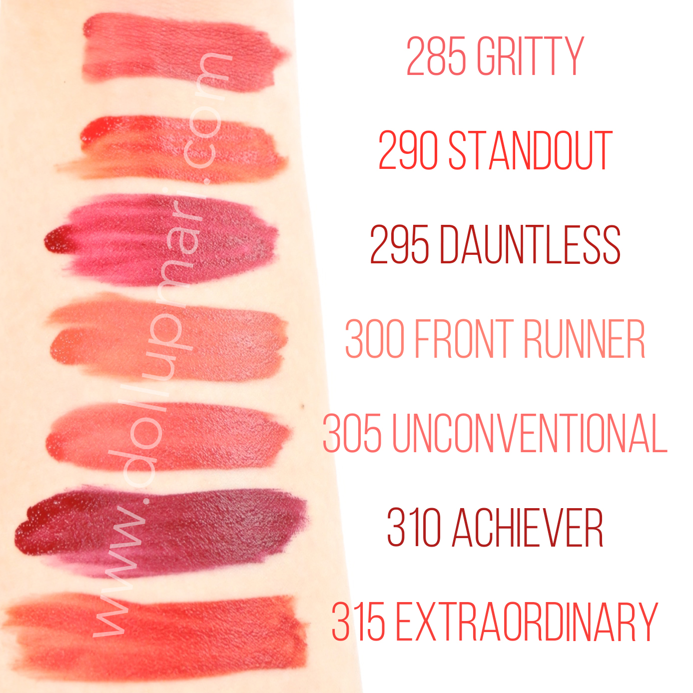 Maybelline Superstay Matte Ink Liquid Lipstick Rogue Reds Swatches