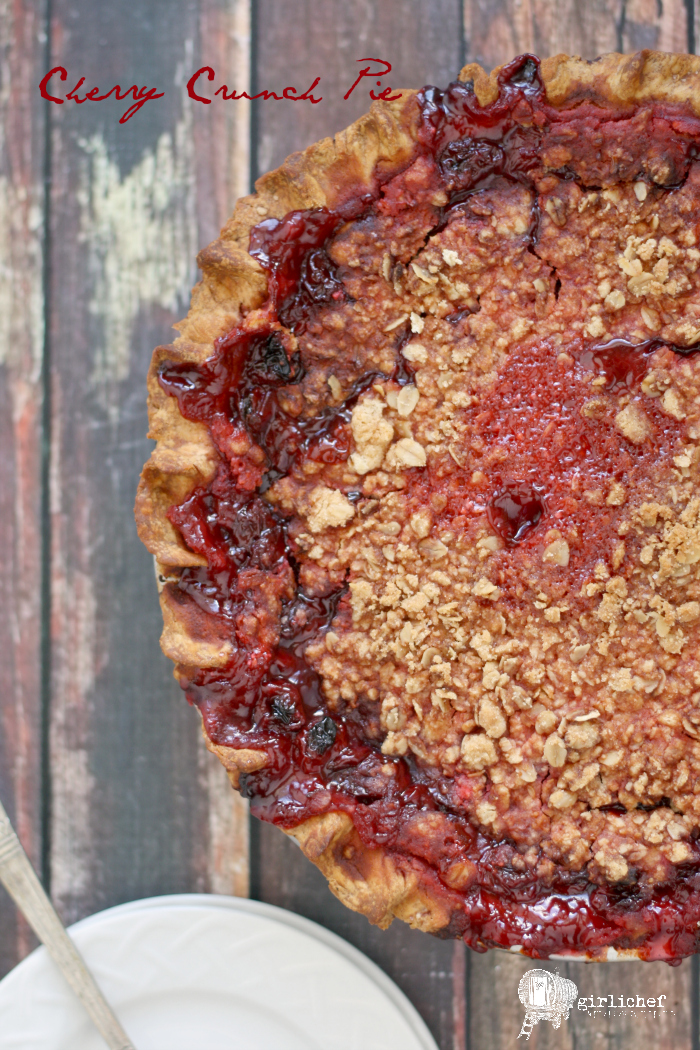 Cherry Crunch Pie #fridaypieday