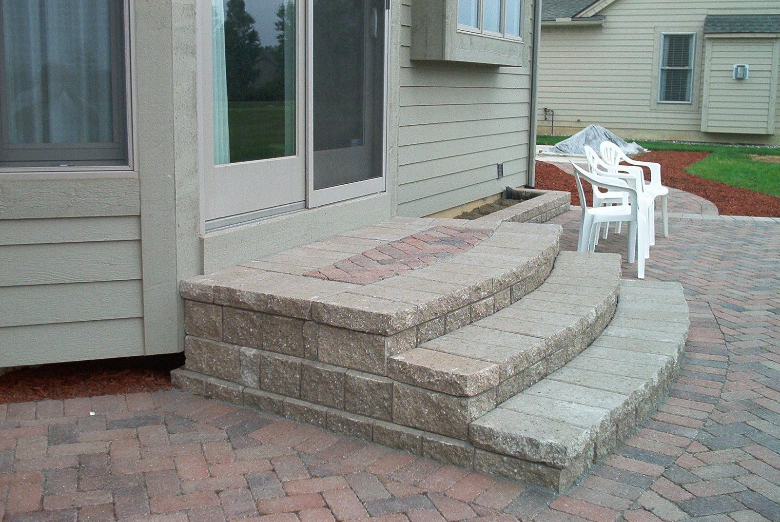 Brick Pavers,Canton,Ann Arbor,Plymouth,Patio,Patios,Repair ... on Backyard Stairs Design id=94974