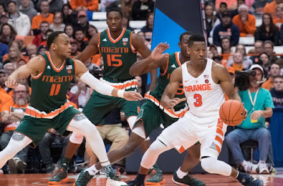 NCAA Basketball : Hurricanes-Orange in ACC Tourney